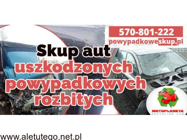 Skup aut uszkodzonych , skup samochodów powypadkowych, samochodów rozbitych Szybki odbiór